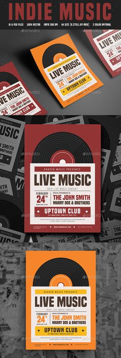 Indie Live Music Flyer — Photoshop PSD #event #gigs • Download ➝ https://graphicriver.net/item/indie-live-music-flyer/19471122?ref=pxcr