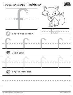 Capital Letter H Learning To Write, Writing Practice, Alphabet Practice Sheets, English Alphabet, Letter F, Lower Case Letters, Lowercase A, Worksheets, Education