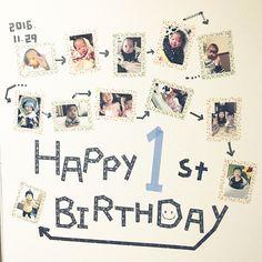 Birthday Cards, Happy Birthday, Photo Displays, Baby Photos, Diy And Crafts, Kids Room, Birthdays, Photo Wall, Children