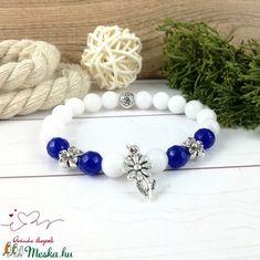 Királykék virágok jade ásvány karkötő (Arindaekszerek) - Meska.hu Beaded Bracelets, Jewelry, Fashion, Jewlery, Moda, Jewels, La Mode, Jewerly, Fasion