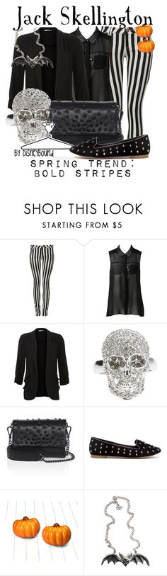 Jack Skellington by leslieakay on Polyvore featuring Forever New, Parisian, Pull&Bear, Kurt Geiger, Philipp Plein, Rock Rebel, Disney and disney