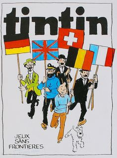 Hergé - original drawing - cover for Tintin weekly (design)