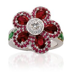 Cellini Flower Power Ruby Ring.
