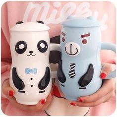 Buy Momoi Cartoon Mug with Cover Cap at YesStyle.com! Quality products at remarkable prices. FREE WORLDWIDE SHIPPING on orders over US$35.
