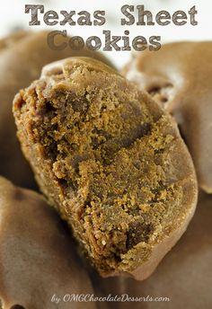 Texas Sheet Cake Cookies - OMG Chocolate Desserts