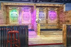 Cutting Edge Axe Throwing Builders – Cutting Edge by Global Entertainment Bodega Bar, Bad Axe, Throwing Axe, Group Insurance, Backyard Games, Family Game Night, Rustic Industrial, Rage, Entertainment