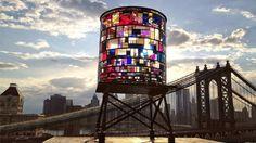 Stained Glass Watertower Sparkles Along Brooklyn's Skyline - My Modern Metropolis