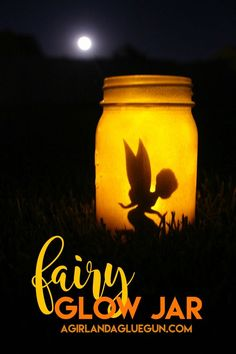 The cutest fairy glow jar ever! A fun craft project to do during the summer. Get your kids involved in this one.