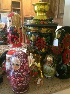 More Russian nesting dolls; hand painted samivar  New Divide & Conquer sale starting this Thursday, March 3-5; check out the details here:  http://divideandconquerofeasttexas.com/nextsales.php  #estatesales #consignments #consignment #tyler #tylertx #tylertexas #organizing #organizers #professionalorganizer #professionalorganizers #movingsale #movingsales #moving #sale #divideandconquer #divideandconquerofeasttexas #divideandconquereasttexas #marthadunlap #martha #dunlap