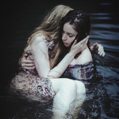"""#girls #water #portrait #photography #dark #espritconfus"""