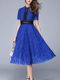 Shop Colorblock Lace Dress online. SheIn offers Colorblock Lace Dress & more to fit your fashionable needs.