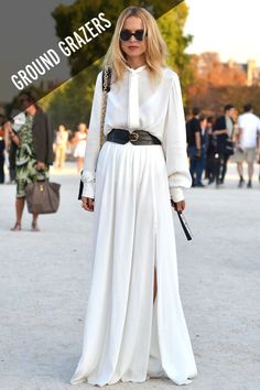 Rachel Zoe makes a head-to-toe white dress look cool