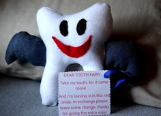 Tooth Fairy Pillow for Girls and Boys. $15.00, via Etsy.