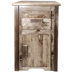 Montana Woodworks Homestead Left Hinged End Table with Drawer, Stain & Lacquer Finish End Tables For Sale, Cool Tables, Rustic End Tables, Modern Side Table, Western Furniture, Log Furniture, Furniture Online, Rustic Barn, Barn Wood