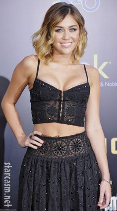 Miley Cyrus looking amazing in Emilio Pucci at the Hunger Games premier