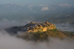 Enna - Calascibetta from Rocca di Cerere Sicily, Geo, Places, Lugares