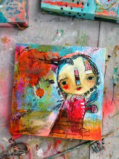 art journal mixed media inspiration Whimsical Owls and Other Mixed Media Art From the Heart by Juliette Crane: RUN WITH THE WIND: A New Painting Mixed Media Canvas, Mixed Media Art, Mix Media, Art Journal Inspiration, Painting Inspiration, Whimsical Owl, Creation Art, Art Sculpture, Arte Popular