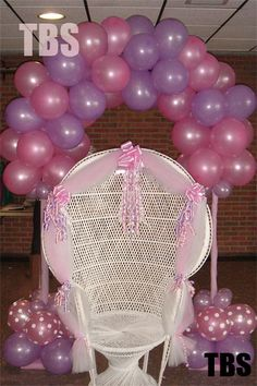 baby shower chair decorations executive desk 66 best decor inspiration images personal arch sweet 15 floral balloon ideas