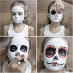 Halloween Face Paint Designs and Ideas 2015 for more Halloween makeup ideas and…