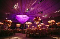 Fantasy Wedding Decor design by Preston Bailey for Amber Ridinger. Adam Alex Photography