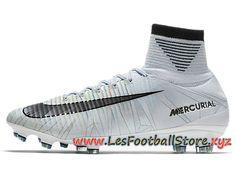 huge discount 2755e 545b0 Nike Mercurial Superfly V Cr7 Fg Chaussure De Football à Crampons Pour  Terrain Sec Blanc Noir