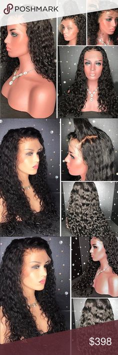 8A Water Wave Full Lace Wigs Baby Hair 100%human Description Package included: 1 x Wig 100% Natural Lace Front Remy Human Hair Wig is made from high quality Brazilian remi human hair All the Wigs are made to look fully natural, allowing you to change your style without any damage to your own hair or to give your hair a rest from the heat and chemical styling we put our hair through on a daily basis.Great for Great Gatsby Party and Daily Life Wigs are breathable, lightweight and easy to wear…
