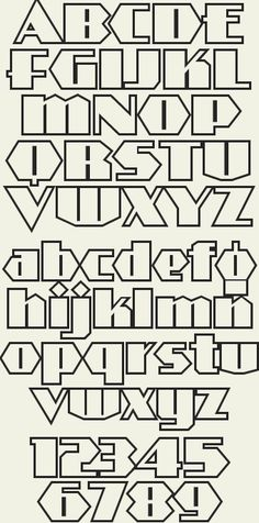 Art Deco style inspired by signpainter Alf R. Becker. Includes lowercase letters in 3 styles: Regular, Shadow & Outline.
