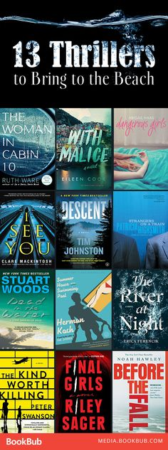 13 thriller books to add to your summer reading list. These novels feature suspense, mystery, crime, and plenty of psychological twists.