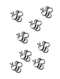 Images For > Bees Black And White