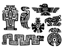 Maya Aztec Set Temporary tattoos Choose your fav от WildLifeDream Tattoo Fe, Temp Tattoo, Tattoo Pics, Diy Tattoo, Native Art, Native American Art, Tattoo Motive Frau, Aztec Art, Aztec Designs