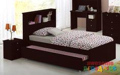 Broadbeach Trundle Bed Modi Oak Single - Awesome Beds 4 Kids