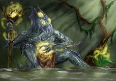 This is how I imagine swamp shaman creature :)