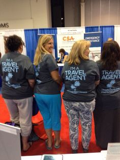 Showing off our stylish t-shirts at the 2015 OSSN Home-Based Travel Agents Forum #travelagentlife #khmrocks #khmlive