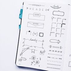 Bullet Journal Doodle Inspiration: Headers, Banners, and More
