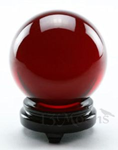 Ruby Red Crystal Ball 2 in