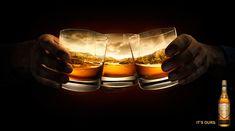 cartel publicitario powers whisky