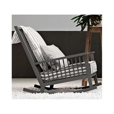 gervasoni schaukelstuhl gray amerik nussbaum natur. Black Bedroom Furniture Sets. Home Design Ideas