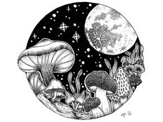 Magic Mushrooms by Ellen Parzer
