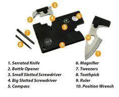 Emergency Credit Card Survival Tool Wallet Size Multi tool 10-1 Pocket Knife