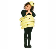 Here's a creative costume perfect for your own little busy bee that is sure to have her buzzing with excitement. What's more, the necessary black tee and leggings are probably already in her closet.