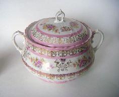 Antique 1800's Wheelock Imperial Austria Vienna Pink by parkledge