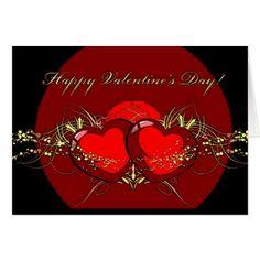 Happy Valentines Day Hearts Card - gift for him present idea cyo design