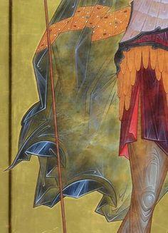 И Religious Icons, Religious Art, Religious Images, Byzantine Icons, Byzantine Art, Male Icon, Paint Icon, Angel Drawing, School Icon