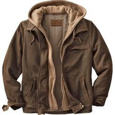 Simply stated – the Dakota is our most unique, rugged casual jacket that can be worn with or without the removable hood. Cotton fleece hood has an attached front zippered placket to add to the layered look. Washed cotton blend has the timeless style of aged leather. Quilted cotton body lining for warmth, and the satin lined sleeves for comfort. Three outside and two inside pockets. High quality construction and materials, and the tailoring you expect from us. Imported.