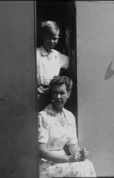 DAVID BOWIE and his mother,