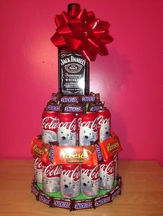 Ideas For Diy Christmas Gifts For Men Alcohol Birthday Alcohol Cake, Alcohol Gifts, Diy Christmas Gifts For Men, Christmas Diy, Homemade Gifts, Diy Gifts, 30th Birthday Parties, 30th Birthday Ideas For Men, Diy Birthday