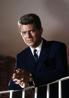 Bowie's acting career allowed him to show off his ability to carry a variety of looks; including this classic conservative one on the set of the movie 'Absolute Beginners' in May, 1985.
