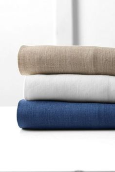 Linen+Sheeting+from+Lands'+End. In navy with extra pillow cases