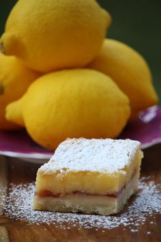 Lemon Raspberry Bars - that ribbon of raspberry just improves the lemon bars - oh my!