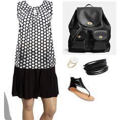 black and white by lori-helton on Polyvore featuring polyvore fashion style M&Co Yummie by Heather Thomson Wet Seal Coach Aurélie Bidermann Pieces